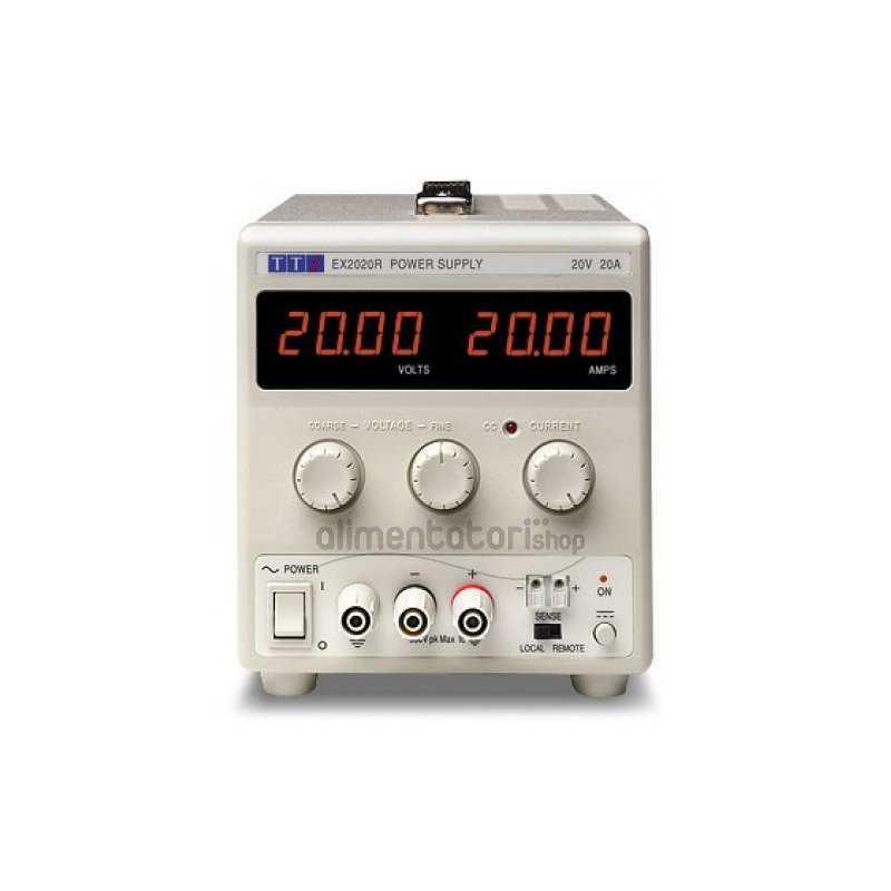 EX2020R  EX2020R - Alimentatore da Laboratorio Singolo 400W / 20V / 20A - Ingresso 100-240 VAC  AimTTi  Alimentatori Laboratorio