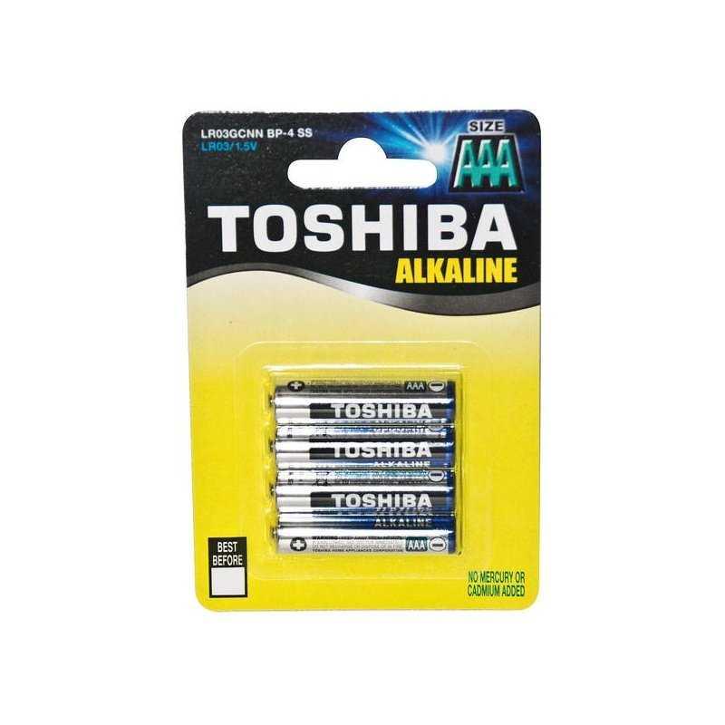 73.20018TB4  LR03 B4 Ministilo Alkalina Toshiba - AAA    Accessori Illuminazione