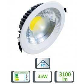 39.9TS052335  Faretto LED da Incasso 35W - 3100 Lumen - CRI80  Life  Faretti Soffitto e Incasso