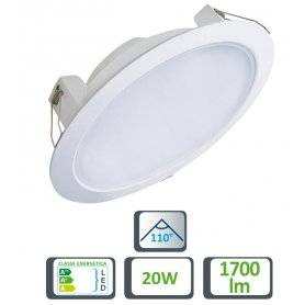 39.9TS042620  Faretto LED Slim da Incasso 20W - 1700 Lumen - CRI80  Life  Faretti Soffitto e Incasso