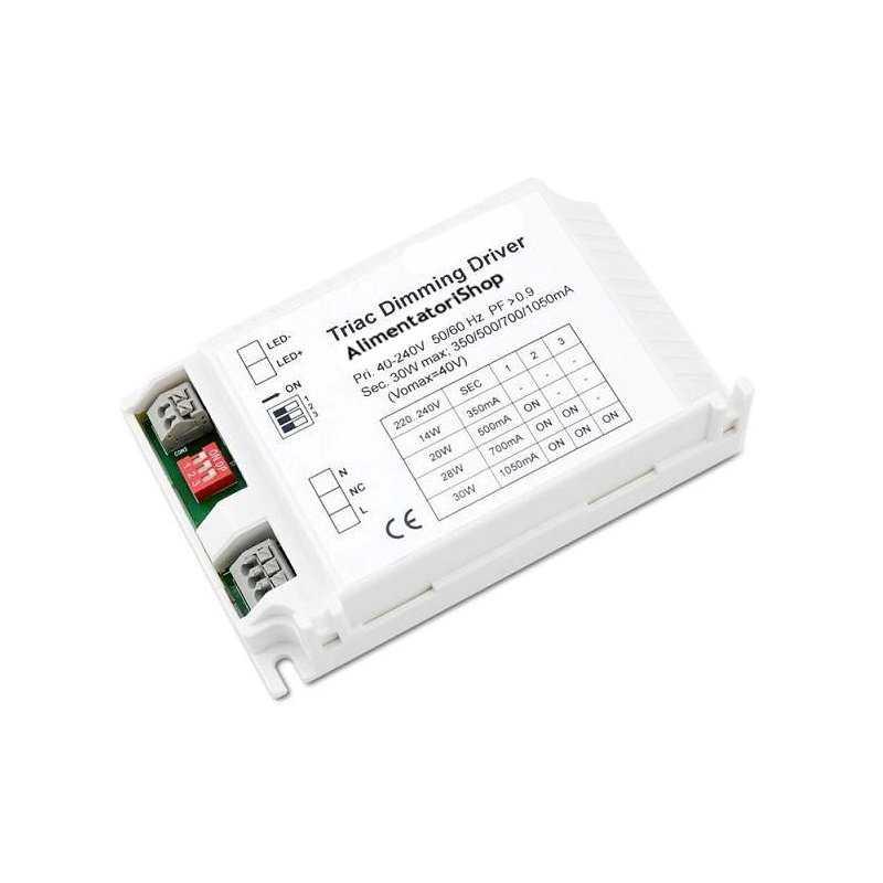 ld-mlt-30 - alimentatore led euchips - cc - 30w / 350ma