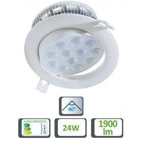 39.9TS0611225  Faretto LED Spot da Incasso 24W - 1900 Lumen - CRI80  Life  Faretti Soffitto e Incasso