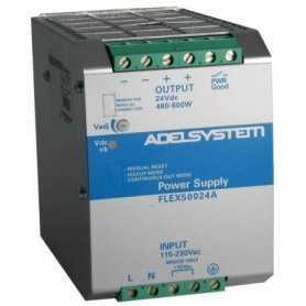 FLEX50024B  FLEX50024B - Alimentatore Adelsystem - Din Rail 600W 24V - Input 380 VAC  Adelsystem  Alimentatori Automazione
