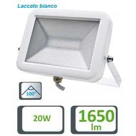 39.9F5020  Faretto Slim Bianco 20W - 1650 Lumen - CRI80  Life  Proiettori Led per esterno