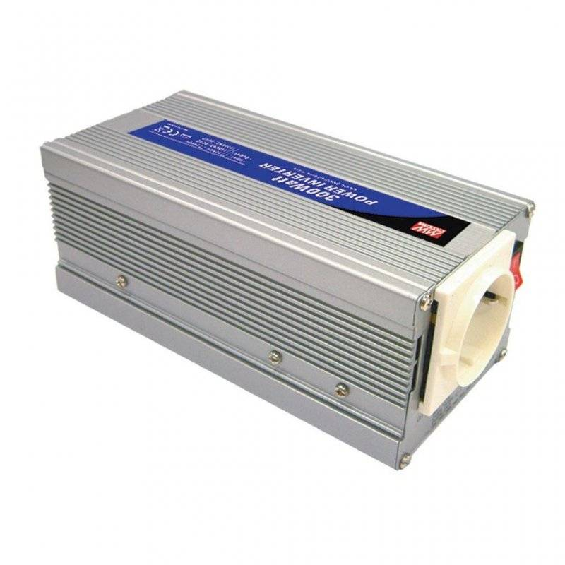 A301-300-F3  A301-300-F3 - Inverter MeanWell 300W - In 12V Out 220 VAC Onda Sinusoidale Modificata  MeanWell