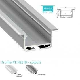 770.PAL.PTIN2510  Profilo Alluminio LED da Incasso nel cartongesso - Modello PTIN2510  Profili Alluminio