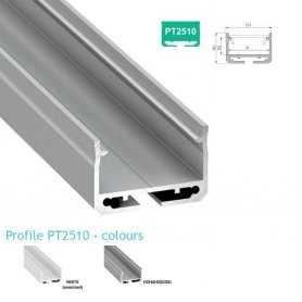 770.PAL.PT2510  Profilo Alluminio LED Piatto da sottopensile - Modello PT2510  Profili Alluminio