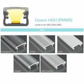 770.COP-H-PMMA  Copertura High (PMMA) per profili tipo AD  Profili Alluminio