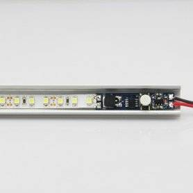 1310.BS001.DIM  Power-Supply  1310.BS001.DIM | Dimmer Mini Pulsante da barra led - in. 12V~24V - 192W max - Dim. + On/Off  Di...