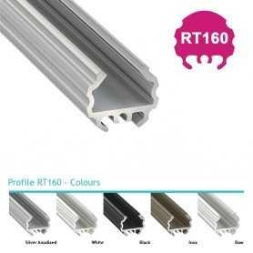770.PAL.RT160  Profilo Alluminio LED Tondo - Modello RT160  Profili Alluminio