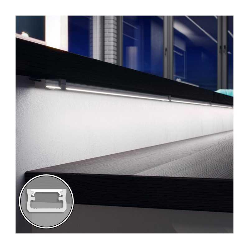 STD120.12-A100  Barra LED su misura -100cm max - Profilo Piatto A (9,3 x 16 mm) - Luminosità Medio/Alta  Power-Supply  Barre ...