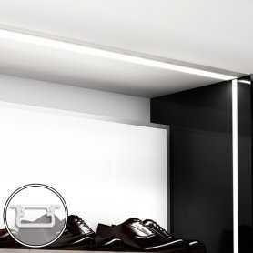 Barra LED su misura -100cm max - Profilo da Incasso B (9,3 x 21 mm) - Luminosità Medio/Alta