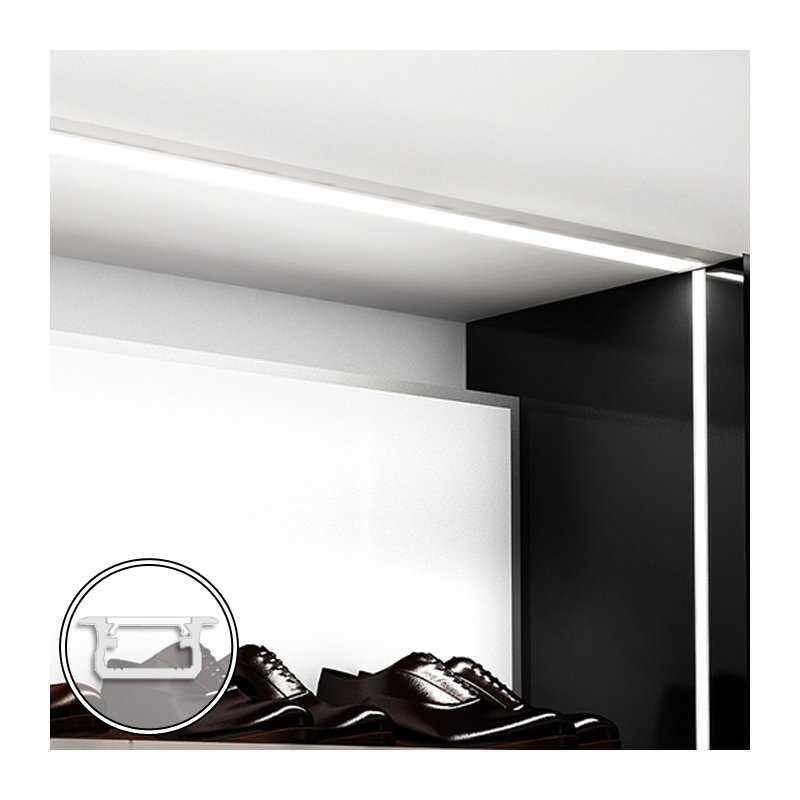 STD120.12-B100  Barra LED su misura -100cm max - Profilo da Incasso B (9,3 x 21 mm) - Luminosità Medio/Alta  Power-Supply  Ba...