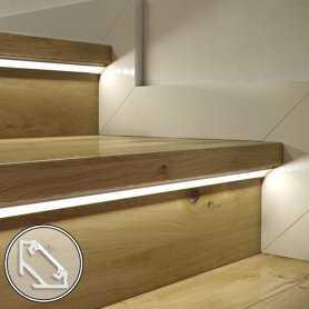 Barra LED su misura - 100cm max- Profilo Angolare C (11,3 x 16,6 mm) -  Luminosità Medio/Alta