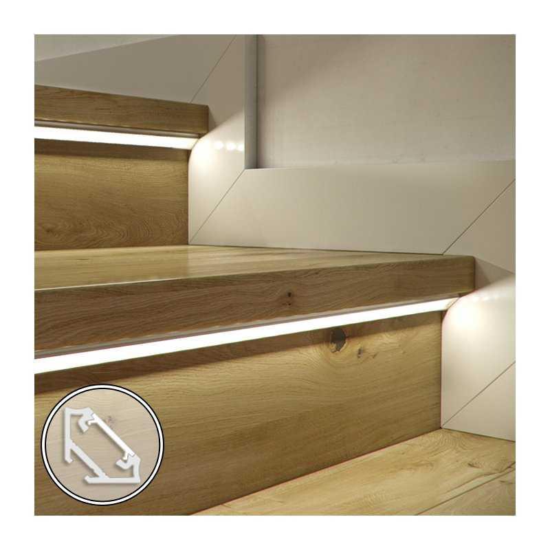 STD120.12-C100  Barra LED su misura - 100cm max- Profilo Angolare C (11,3 x 16,6 mm) - Luminosità Medio/Alta  Power-Supply  B...