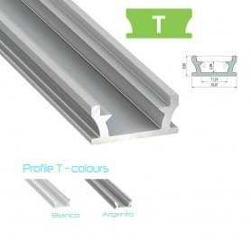770.PAL.T  Profilo Alluminio per LED da Incasso calpestabile - Modello T  Profili Alluminio