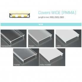 770.COP-W-PVC  Copertura Wide (PVC) per Profili SOLOS/ILEDZ/INZO  Power-Supply  Accessori Illuminazione