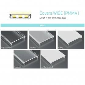 770.COP-W-PMMA  Copertura Wide (PMMA) per Profili SOLOS/ILEDZ/INZO  Power-Supply  Accessori Illuminazione