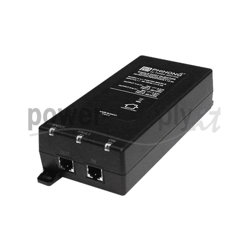 POE75D-1UP  POE75D-1UP - POE Midspan Injector Phihong - 75W - 1 Porta  Phihong   PoE Power