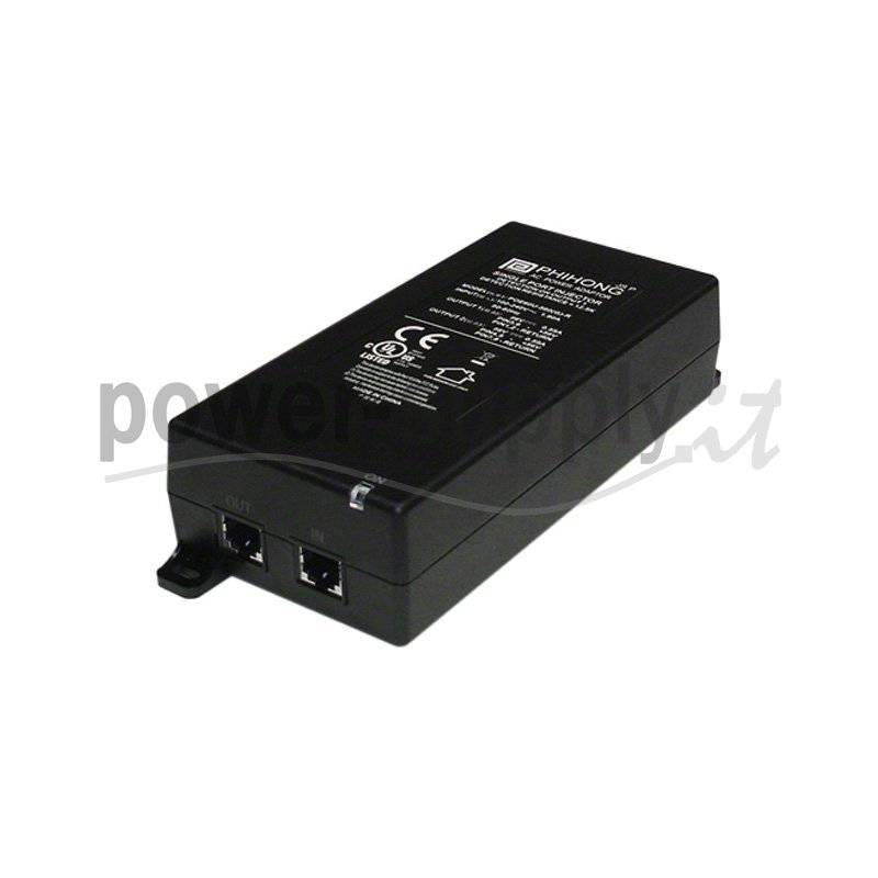 POE61W-560D  POE61W-560D - POE Injector Passivo Phihong - 60W / 56V / 1,1A - 1 Porta  Phihong   PoE Power