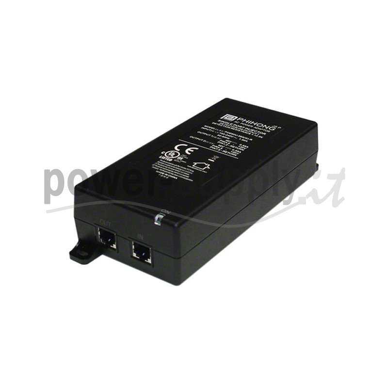 POE61W-560DG  POE61W-560DG - POE Injector Passivo Phihong - 60W / 56V / 1,1A - 1 Porta  Phihong   PoE Power