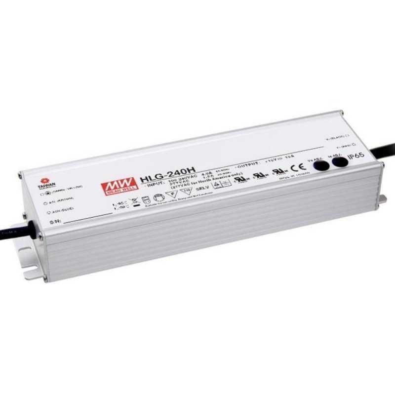 HLG-240H-24  HLG-240H-24 Alimentatore LED MeanWell - CV/CC - 240W / 24V / 10000mA   MeanWell  Alimentatori LED
