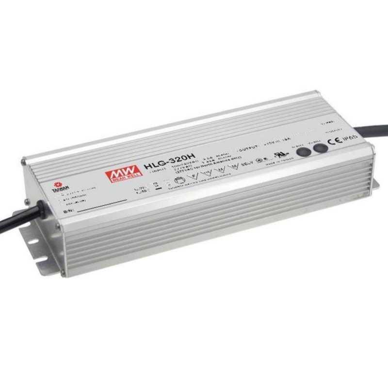 HLG-320H-24  HLG-320H-24 Alimentatore LED MeanWell - CV/CC - 320W / 24V / 13340mA   MeanWell  Alimentatori LED