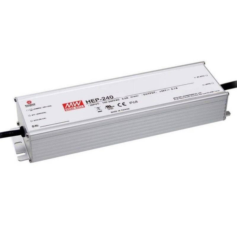 HEP-240-12  HEP-240-12 Alimentatore LED MeanWell - CV - 240W / 12V   MeanWell  Alimentatori LED