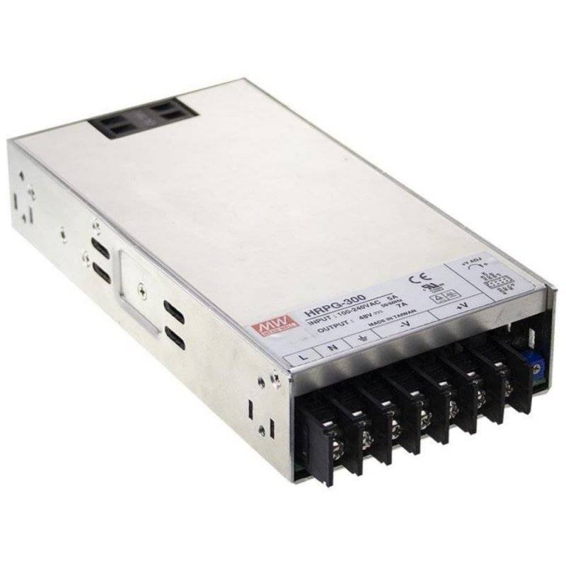 HRPG-300-24  HRPG-300-24 - Alimentatore Meanwell - Box Metallo - 300W 24V - Ingresso 100-240 VAC  MeanWell  Alimentatori Auto...