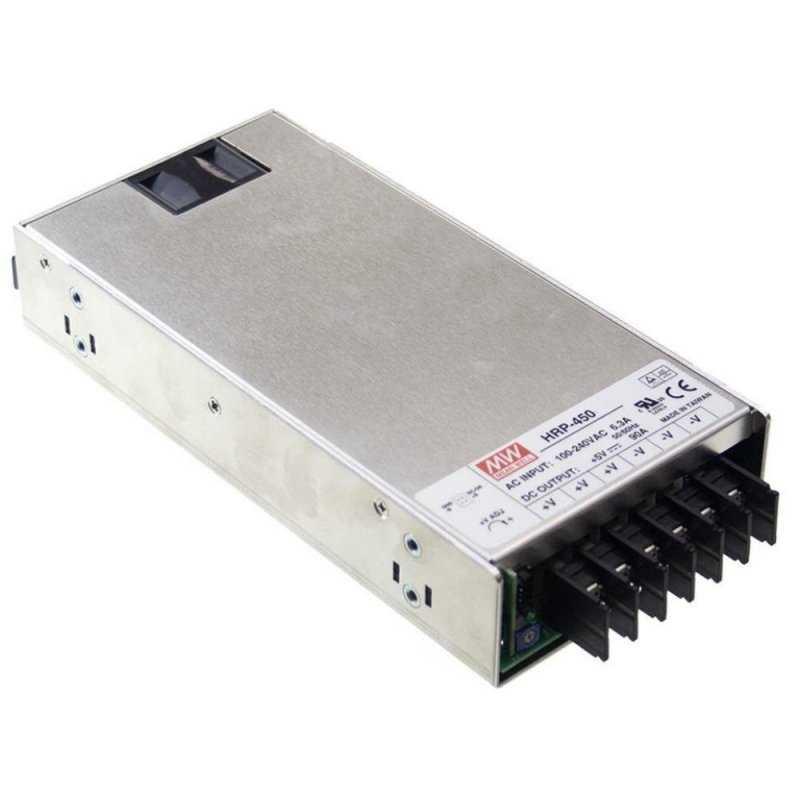 HRP-450-24  HRP-450-24 - Alimentatore Meanwell - Box Metallo - 450W 24V - Ingresso 100-240 VAC  MeanWell  Alimentatori Automa...