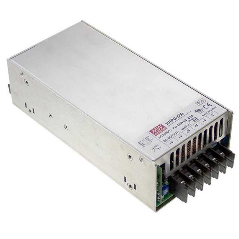 HRPG-600-48  HRPG-600-48 - Alimentatore Meanwell - Box Metallo - 600W 48V - Ingresso 100-240 VAC  MeanWell  Alimentatori Auto...