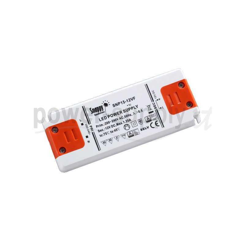SNP15-12VF  SNP15-12VF Alimentatore LED Snappy - CV - 15W / 12V   Snappy  Alimentatori LED