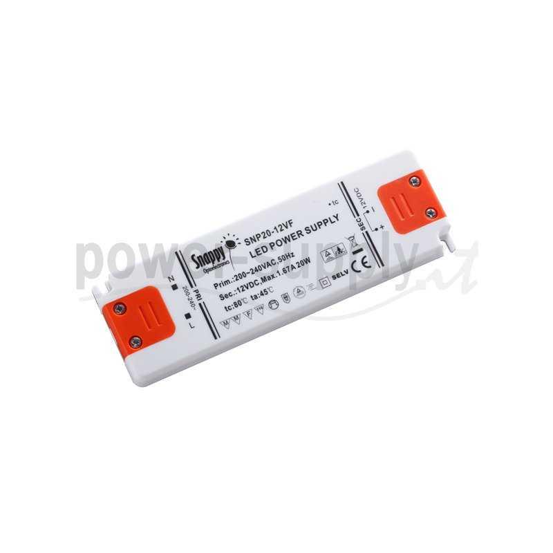 SNP20-12VF  SNP20-12VF Alimentatore LED Snappy - CV - 20W / 12V   Snappy  Alimentatori LED