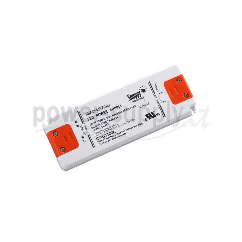 SNP30-12VF  SNP30-12VF Alimentatore LED Snappy - CV - 30W / 12V   Snappy  Alimentatori LED