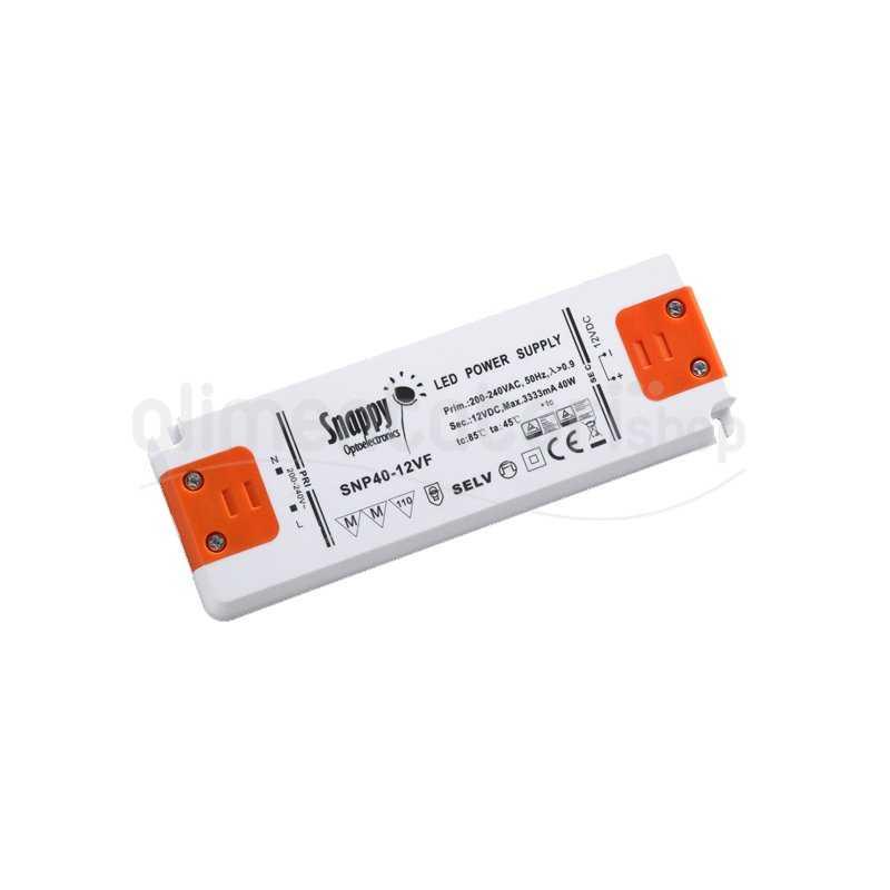 SNP50-12VF  SNP50-12VF Alimentatore LED Snappy - CV - 40W / 12V   Snappy  Alimentatori LED