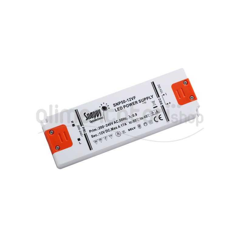 SNP50-24VF  SNP50-24VF Alimentatore LED Snappy - CV - 50W / 24V   Snappy  Alimentatori LED