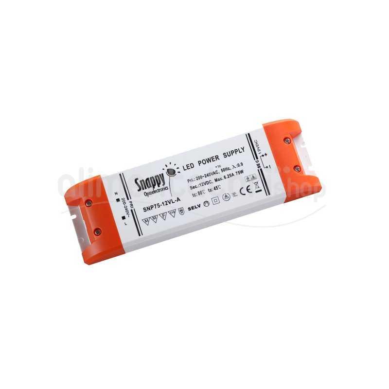 SNP75-12VL-A  SNP75-12VL-A Alimentatore LED Snappy - CV - 75W / 12V   Snappy  Alimentatori LED