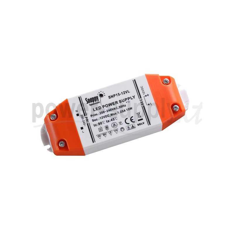 SNP15-350IL  SNP15-350IL - Alimentatore LED Snappy - CC - 15W / 350mA   Snappy  Alimentatori LED