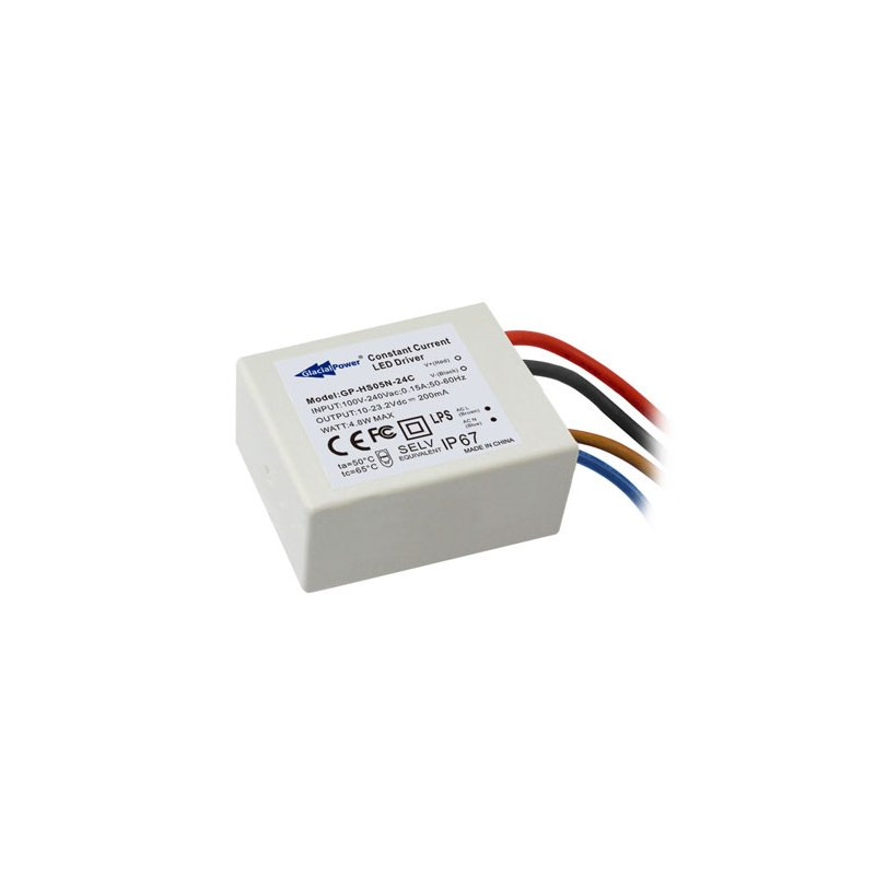 HS05N-07C  HS05N-07C - Alimentatore LED Glacial Power - CC - 5W / 700mA   Glacial Power  Alimentatori LED