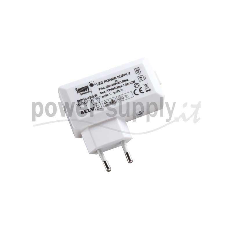 SNP12-12VLW  SNP12-12VLW Alimentatore LED Snappy - CV - 12W / 12V   Snappy  Alimentatori LED
