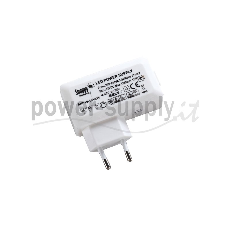 SNP15-700ILW  SNP15-700ILW - Alimentatore LED Snappy - CC - 15W / 700mA   Snappy  Alimentatori LED