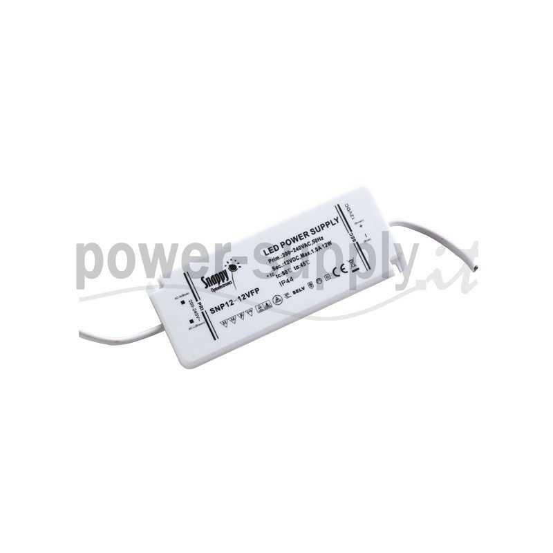 SNP12-24VFP  SNP12-24VFP Alimentatore LED Snappy - CV - 24W / 24V   Snappy  Alimentatori LED