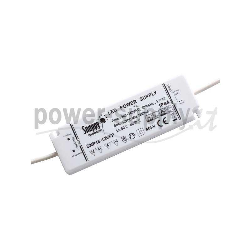 SNP15-12VFP  SNP15-12VFP Alimentatore LED Snappy - CV - 15W / 12V   Snappy  Alimentatori LED