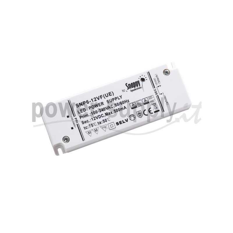 SNP6-24VF(UE)  SNP6-24VF(UE) Alimentatore LED Snappy - CV/CC - 6W / 24V / 250mA   Snappy  Alimentatori LED