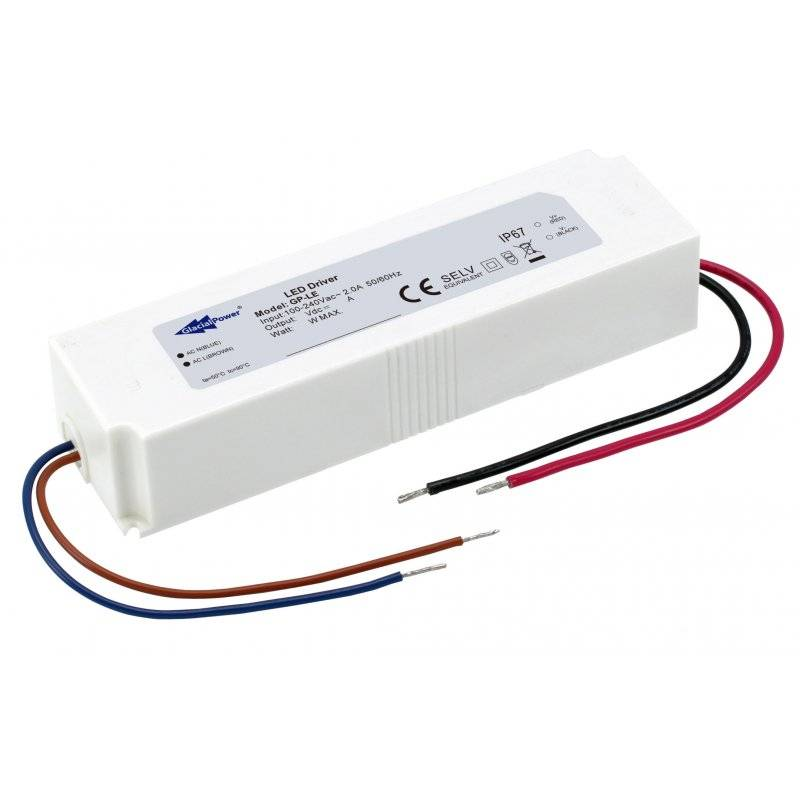 LE036N-24V Glacial Power LE036N-24V Alimentatore LED Glacial Power - CV - 36W / 24V Alimentatori LED