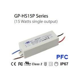 HS15P-12CA  - Alimentatore LED Glacial Power - CC - 15W / 1250mA Dimming