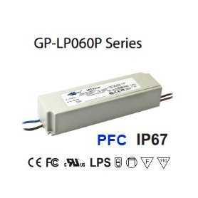 LP060P-24A Alimentatore LED Glacial Power - CV/CC - 60W / 24V / 2500mA