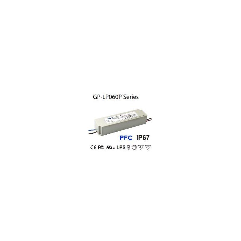 LP060P-24A Glacial Power LP060P-24A Alimentatore LED Glacial Power - CV/CC - 60W / 24V / 2500mA Alimentatori LED