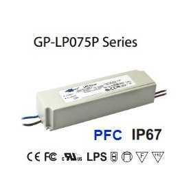 LP075P-28A Alimentatore LED Glacial Power - CV/CC - 75W / 28V / 2670mA