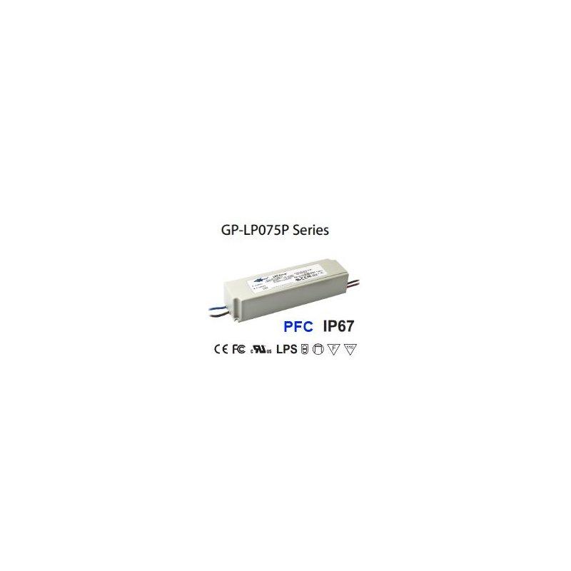 LP075P-36A Glacial Power LP075P-36A Alimentatore LED Glacial Power - CV/CC - 75W / 36V / 2080mA Alimentatori LED
